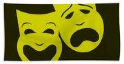 Comedy N Tragedy Yellow Bath Towel