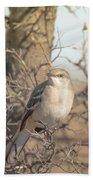 Common Mockingbird Bath Towel