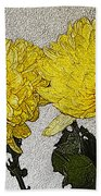 Conversations In The Flower Garden Hand Towel
