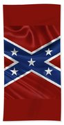 Confederate Flag - Second Confederate Navy Jack And The Battle Flag Of Northern Virginia Bath Towel