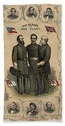 Confederate Generals Of The Civil War Bath Towel