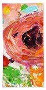 Confetti Poppies Bath Sheet by Barbara Pirkle