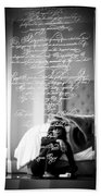 Confidently Lost - Immortal Beloved Love Letter Bath Towel