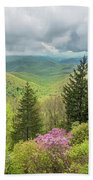 Conifers And Blooms Bath Towel