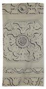Connecticut-type Hadley Chest-detail Of Central Panel Bath Towel