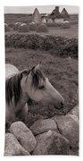 Connemura Horse-signed-#300 Bath Towel