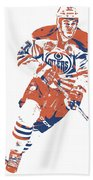 Connor Mcdavid Edmonton Oilers Pixel Art 6 Bath Towel