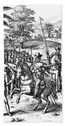 Conquest Of Inca Empire Hand Towel