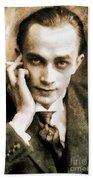 Conrad Veidt, Vintage Actor Bath Towel