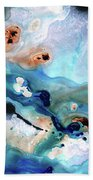 Contemporary Abstract Art - The Flood - Sharon Cummings Hand Towel