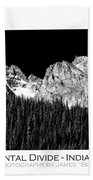 Continental Divide - Indian Peaks - Poster Bath Towel