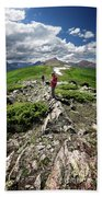 Continental Divide Above Twin Lakes 7 - Weminuche Wilderness Hand Towel