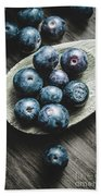 Cooking With Blueberries Bath Towel