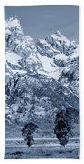 Cool Blue Monotone Grand Teton Bath Towel