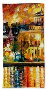 Copenhagen Original Oil Painting  Bath Towel