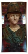 Copper Bust In Rome Hand Towel