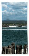 Coquille River Lighthouse Bath Towel