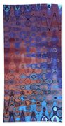 Coral Abstract Bath Towel