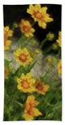 Coreopsis Tickseed Bath Towel