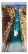 Corinth Canal  Bath Towel