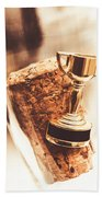 Cork And Trophy Floating In Champagne Flute Hand Towel