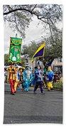 Corner Club 4 - Mardi Gras New Orleans Bath Towel