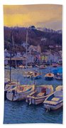 Cornish Fishing Village Hand Towel by Paul Gulliver