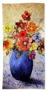 Cornucopia-still Life Painting By V.kelly Bath Towel by Valerie Anne Kelly