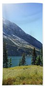 Cosley Ridge Over Cosley Lake - Glacier National Park Bath Towel