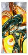 Cosmic Flame Abstract Bath Towel