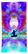 Cosmic Spiral 72 Painted Hand Towel by Derek Gedney