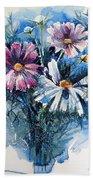 Cosmos Flowers Hand Towel