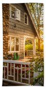 Cottage Sunset In Deep Cove, Nova Scotia Bath Towel