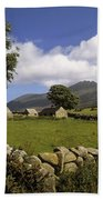 Cottages On A Farm Near The Mourne Bath Towel