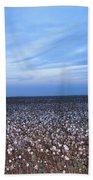 Cotton Fields At Dusk Casa Grande Arizona 2004 Bath Towel