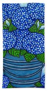 Country Blues Bath Towel