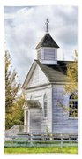 Country Church At Old World Wisconsin Bath Towel