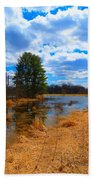 Country Clouds Bath Towel