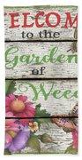 Country Garden Sign-e Bath Towel