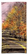 Country Road In Autumn Bath Towel
