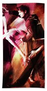 Couple Tango Art Bath Towel