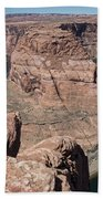 Couple Viewing Horseshoe Bend High Up Edge  Hand Towel