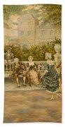 Couples On Veranda Of Chateau Bath Towel