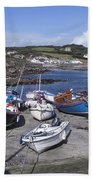 Coverack Harbour Cornwall Bath Towel