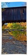 Covered Bridge Over The Cold River Bath Towel