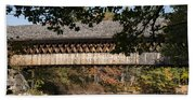 Covered Bridge Over The Contoocook River Hand Towel
