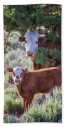Cow And Calf Bath Towel