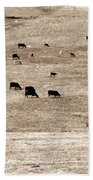 Cow Droppings Bath Towel