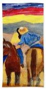 Cowboy Kisses Cowgirl Bath Towel