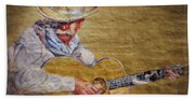 Cowboy Poet Bath Towel